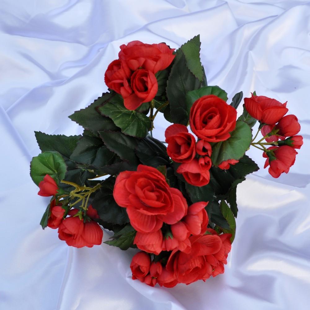 Begonia artificiale rossa per balconi e terrazzi fiori for Begonia pianta
