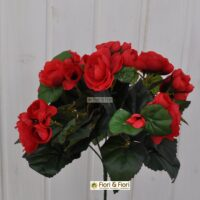 Begonia artificiale rossa
