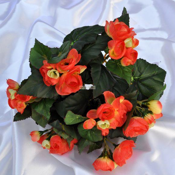 Vendita begonia artificiale arancio in tessuto fiori fiori for Begonia pianta