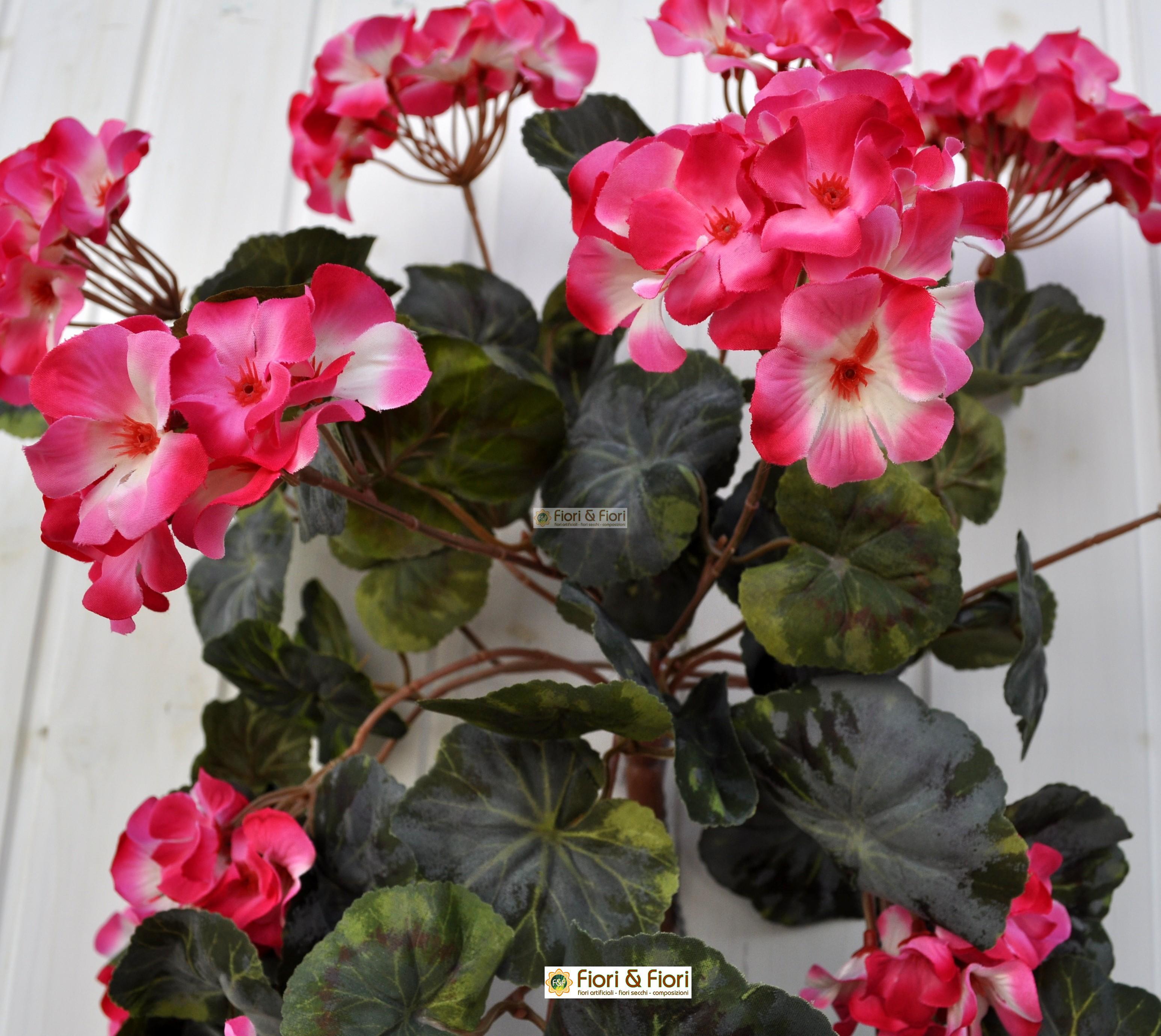 Pianta artificiale geranio cadente rosa per decorazioni di for Rosa pianta