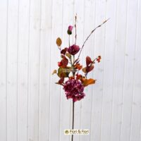 Ramo fiori finti margot fucsia