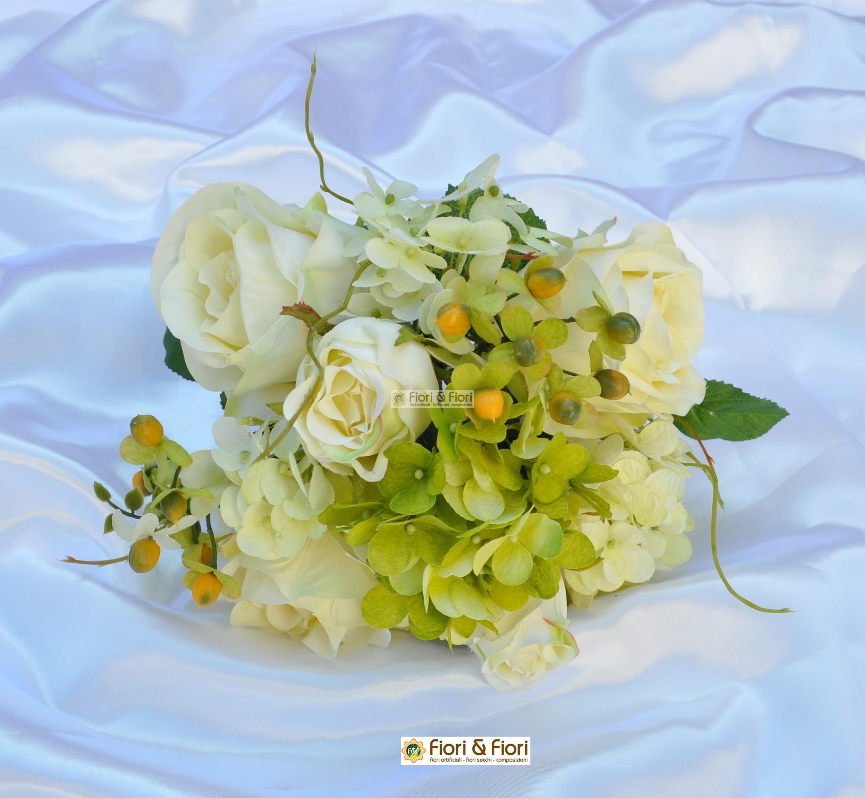 Bouquet fiori artificiali primavera bianco per decorazioni for Fiori artificiali