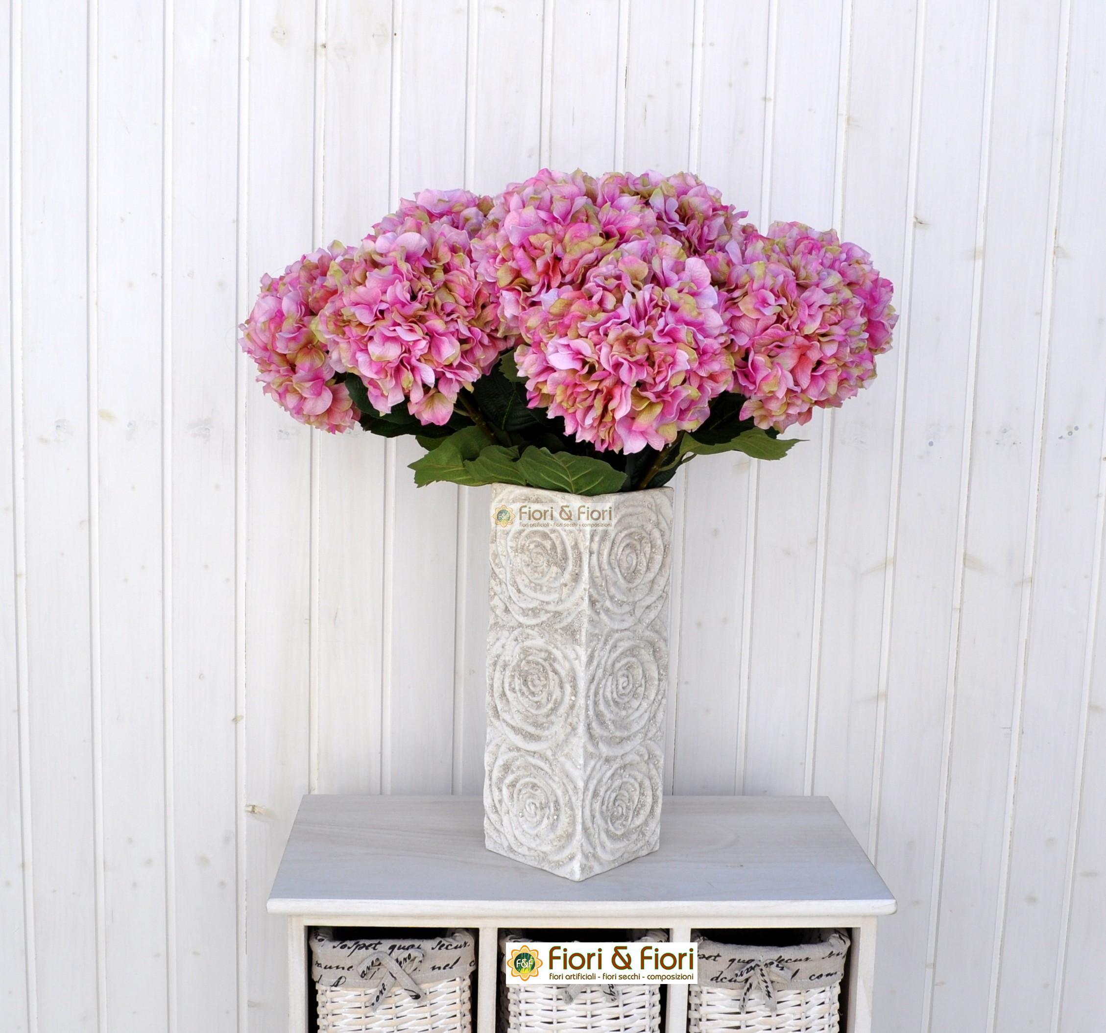 Ortensia arborescens artificiale rosa for Colore ortensia
