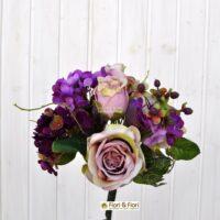 bouquet fiori artificiali primavera viola