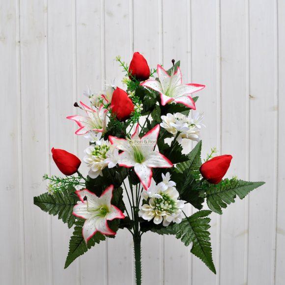 Bouquet fiori artificiali zinnia bianco per esterno fiori for Fiori per esterno