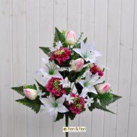 Bouquet fiori artificiali zinnia