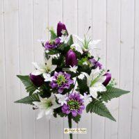 fiori artificiali zinnia viola