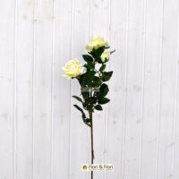 Fiore artificiale Rosa kiss bianca