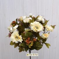 Bouquet fiori artificiali country bianco