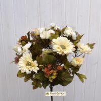 Bouquet fiori artificiali country bianco