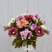 Bouquet fiori artificiali country rosa