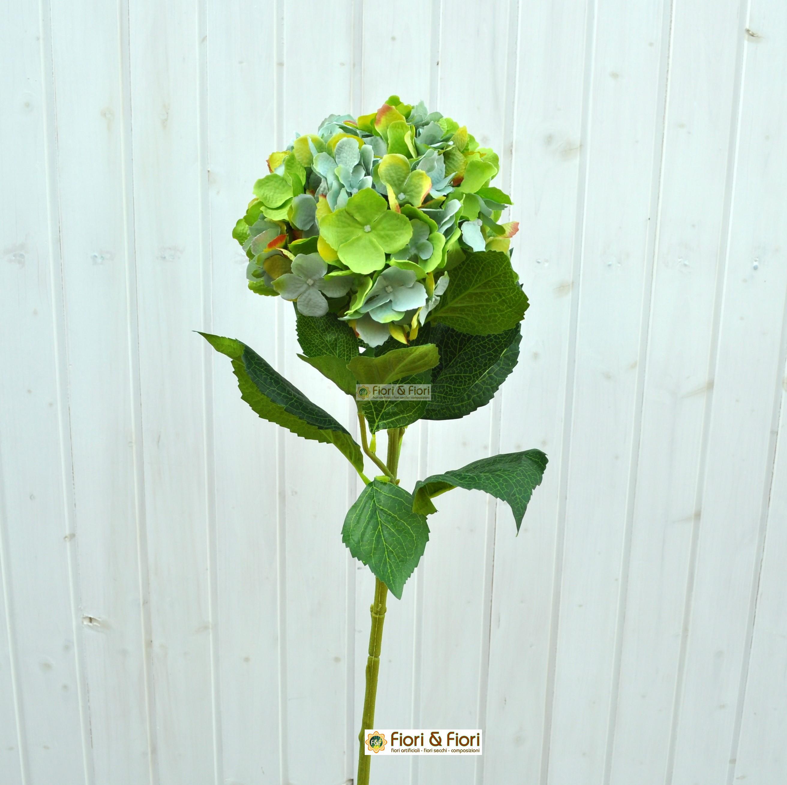 Ortensia macrophylla verde artificiale in tessuto lavabile for Colore ortensia