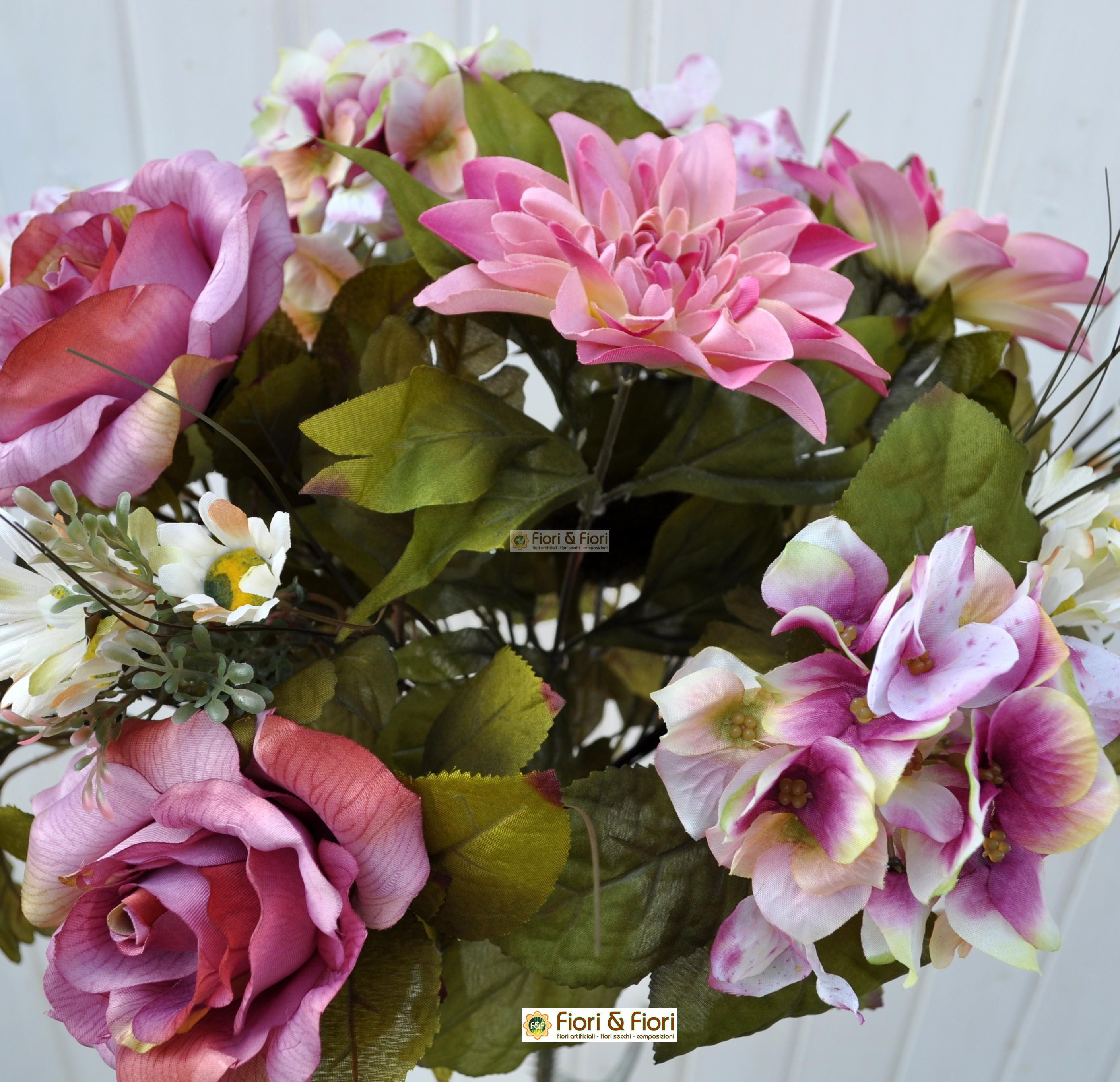 Fiori finti dalia country rosa in tessuto lavabile - Dalia pianta ...