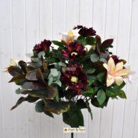 fiori artificiali gerbera giglio viola