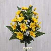 Fiori artificiali Gerberina giallo