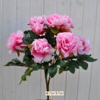fiori artificiali peonia tudor rosa
