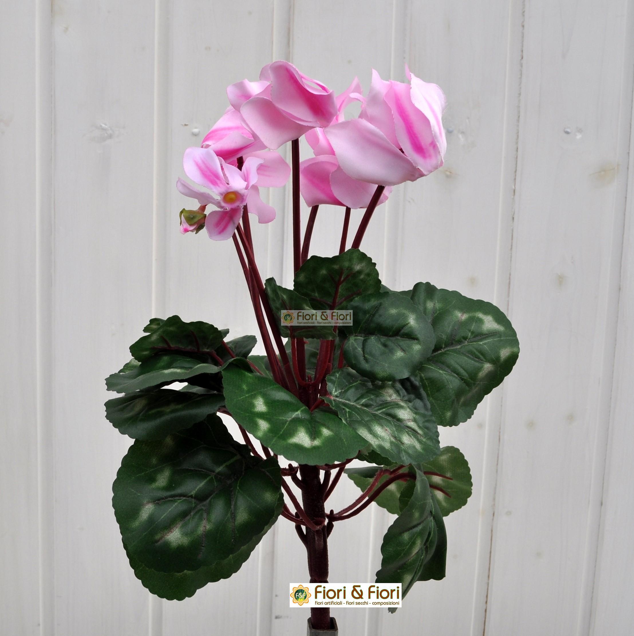 Ciclamino artificiale rosa in tessuto lavabile for Rosa pianta