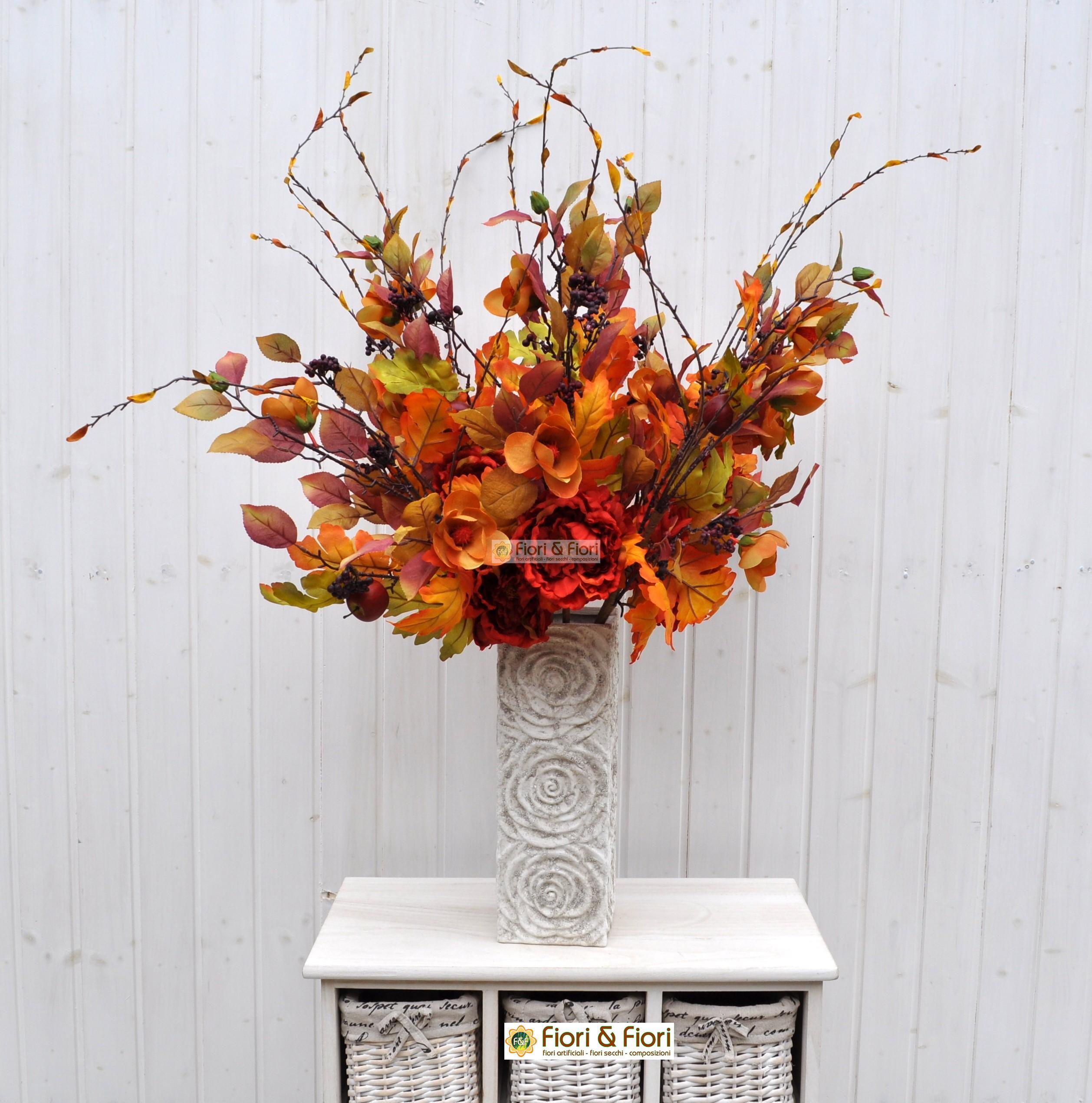 Fiori finti margaret arancio in tessuto lavabile for Arredare con fiori finti