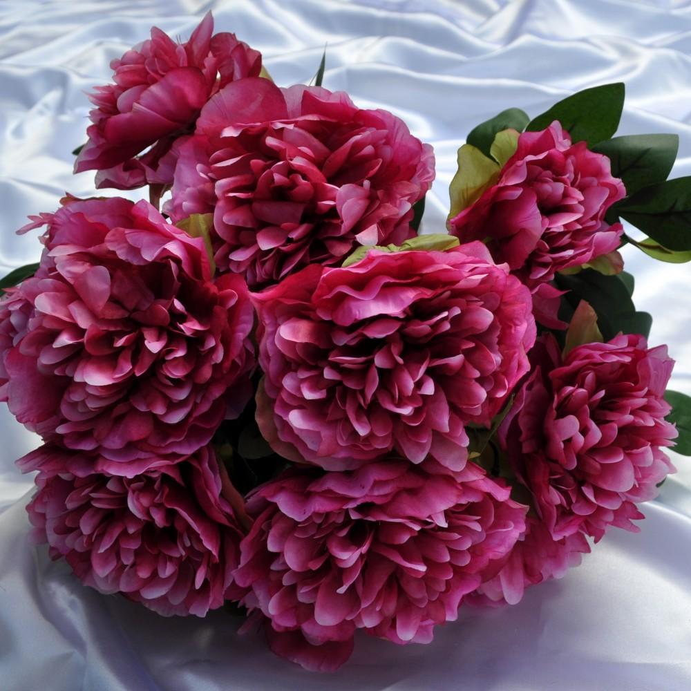 Fiori artificiali peonia tudor per uso esterno fiori fiori for Fiori per esterno