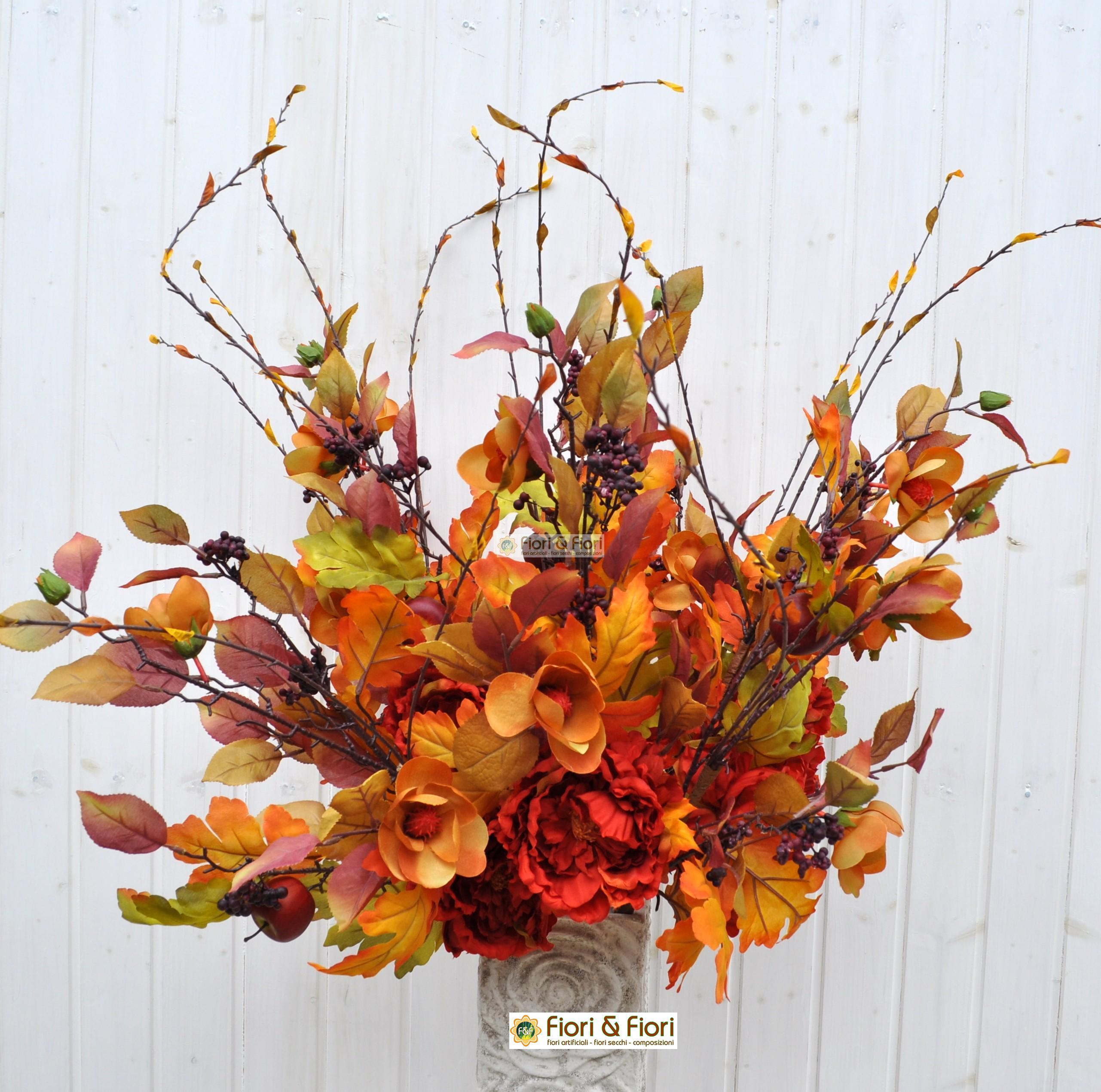 Fiori finti margaret arancio in tessuto lavabile for Composizioni fiori finti per arredamento