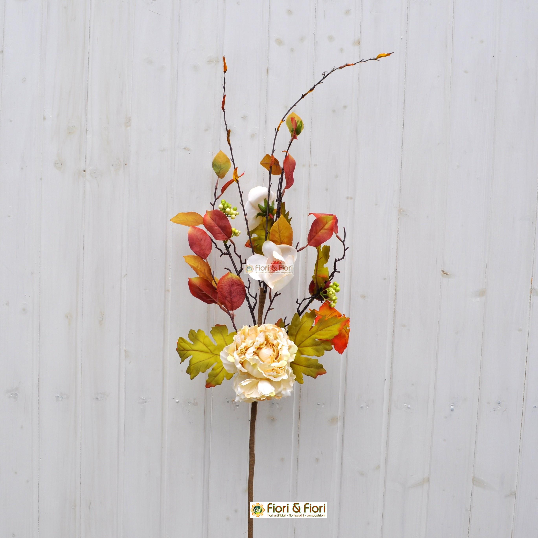 Fiori finti margaret bianco in tessuto lavabile per - Decorazioni fiori finti ...