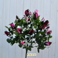 Bouquet fiori artificiali rose lady mary fucsia