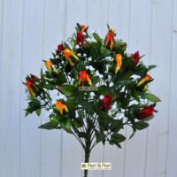 Bouquet fiori artificiali Rose Lady Mary rosso