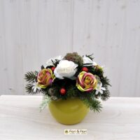Composizione fiori artificiali Rosalinda