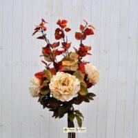 Bouquet fiori artificiali Peonia Eucalipto