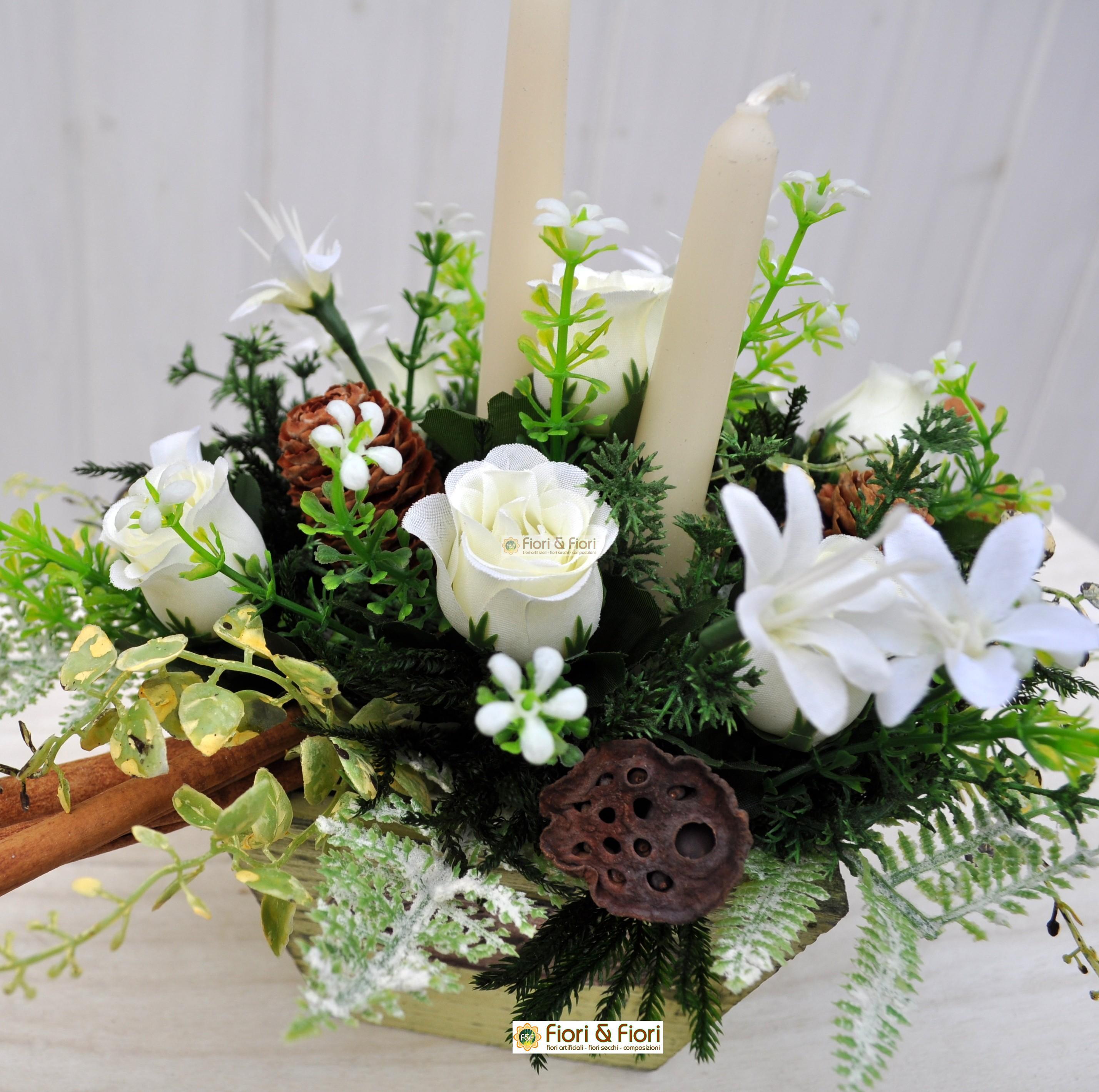 Colore Di Soggiorno : Composizione fiori artificiali christmas per decorazioni