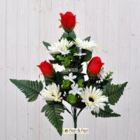 Bouquet Gerbera artificiale rosso