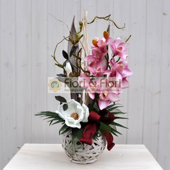 Composizione fiori artificiali Jacqueline
