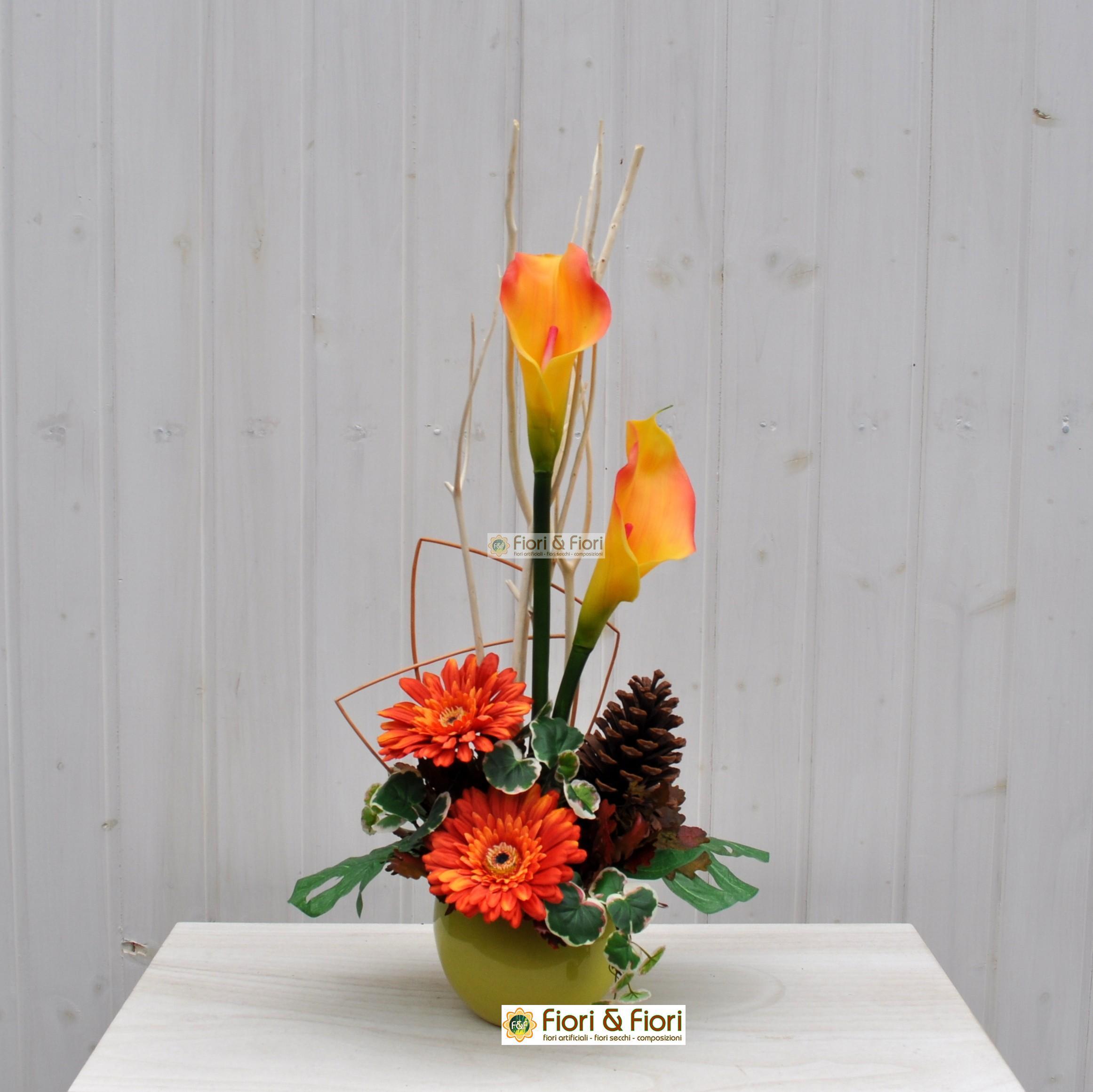 Composizione fiori artificiali marit per ambienti for Composizioni fiori finti per arredamento