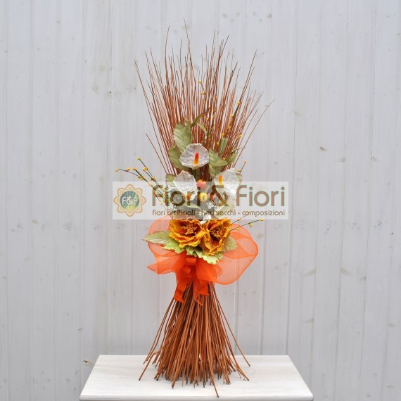 Decorazione fiori artificiali Colèt arancio
