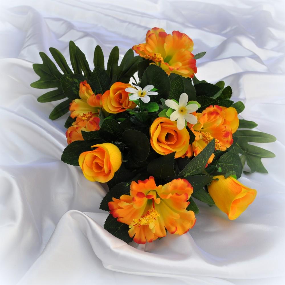 Fiori artificiali hibiscus giallo per esterno fiori fiori for Fiori per esterno