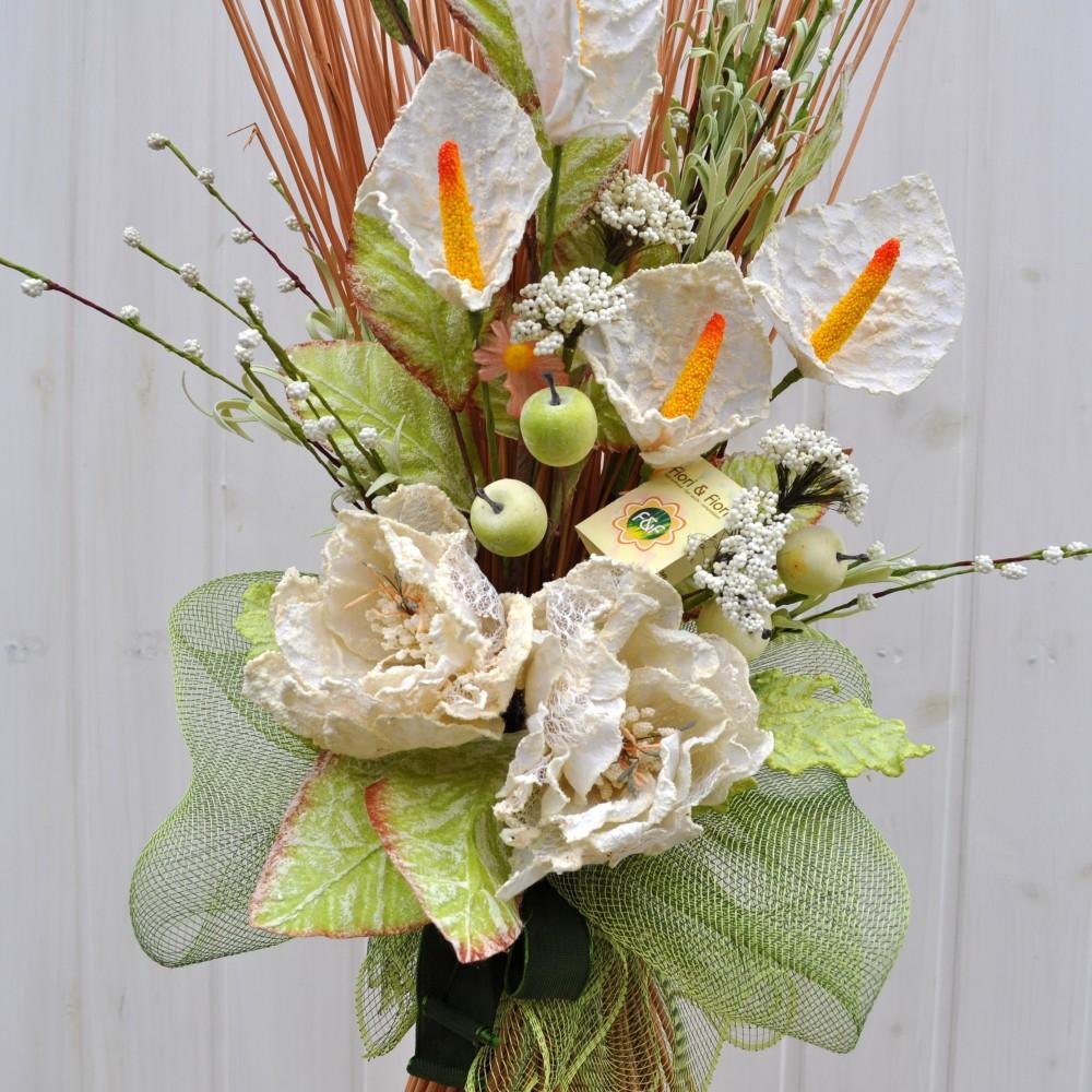 Decorazione fiori artificiali Colèt bianco per la casa: Fiori & Fiori
