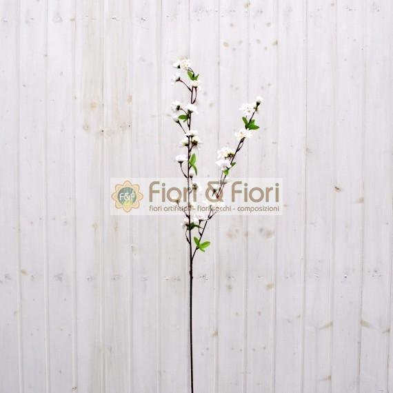 Fiore di pesco artificiale bianco