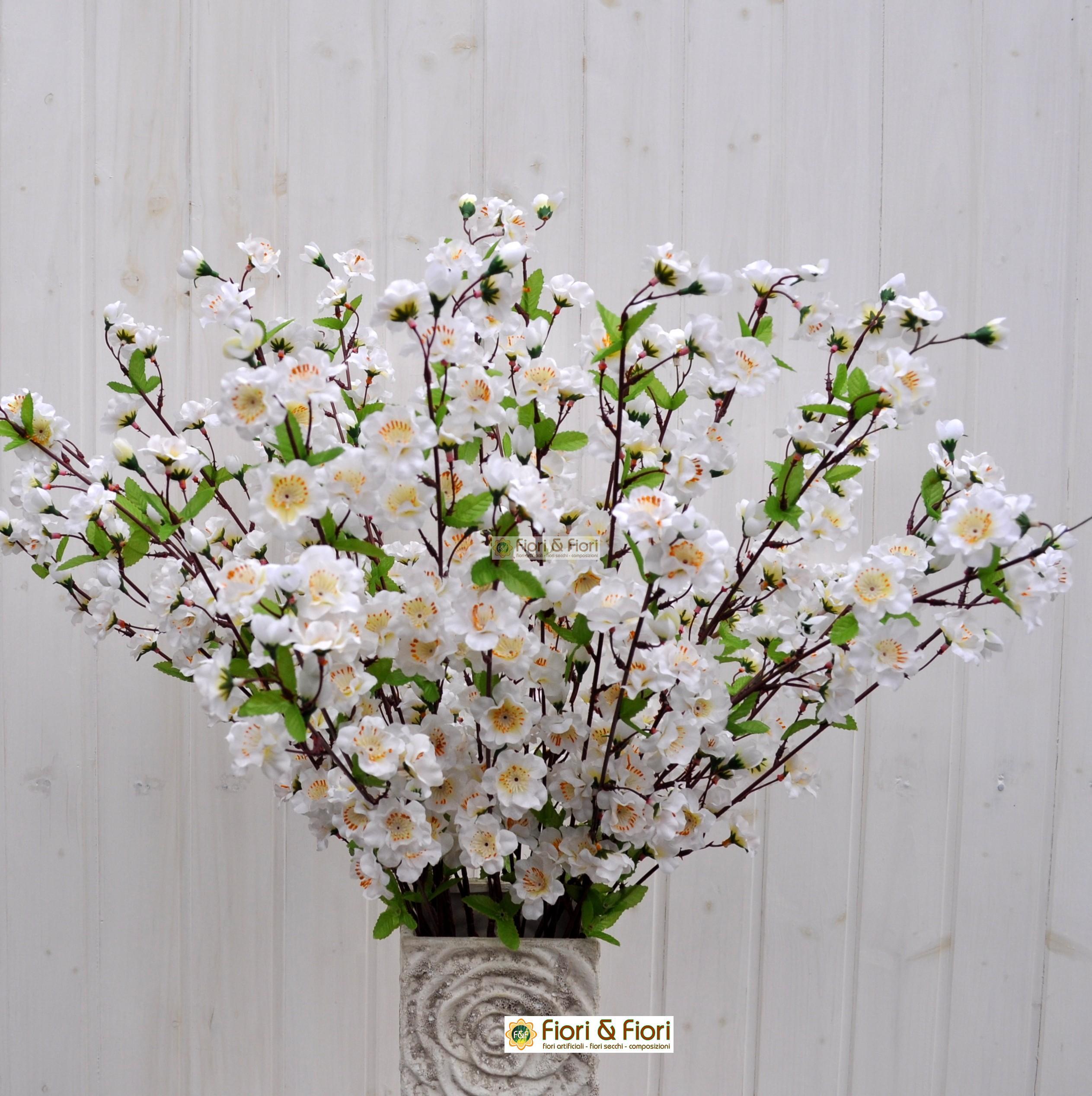 Rami Di Pesco Finti fiore di pesco artificiale bianco