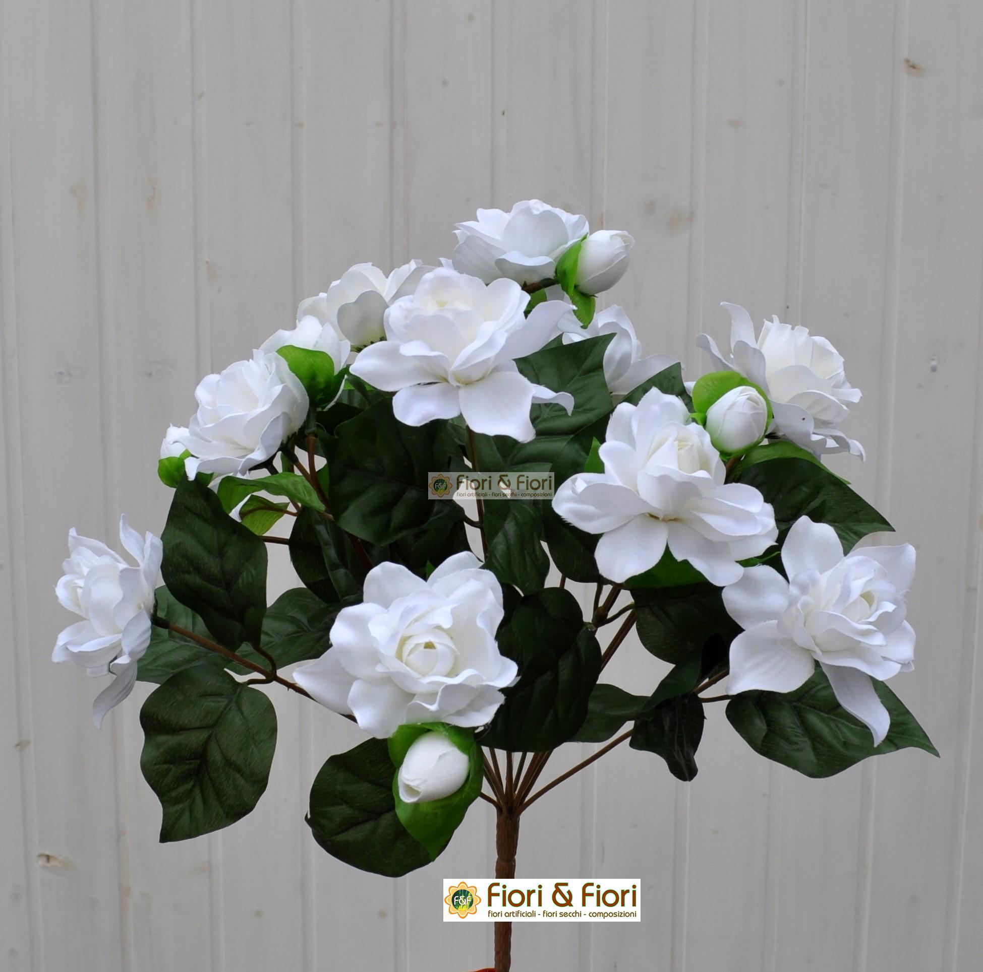 Gardenia artificiale jasminoides bianca per balconi e terrazzi - Gardenia pianta da interno o esterno ...