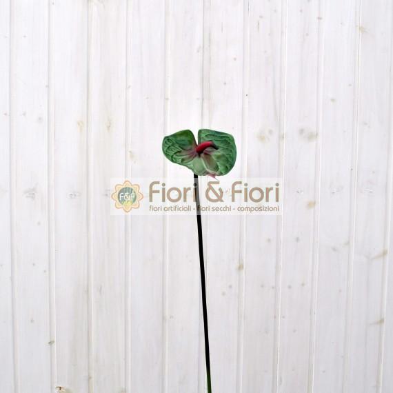 Fiore artificiale Anthurium verde