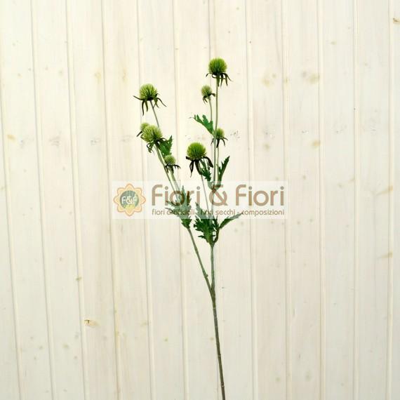 Fiore artificiale Echinops verde