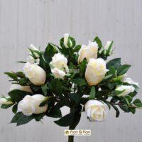 Bouquet fiori artificiali rosa gioia bianco