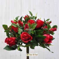 Bouquet fiori artificiali rosa gioia rosso
