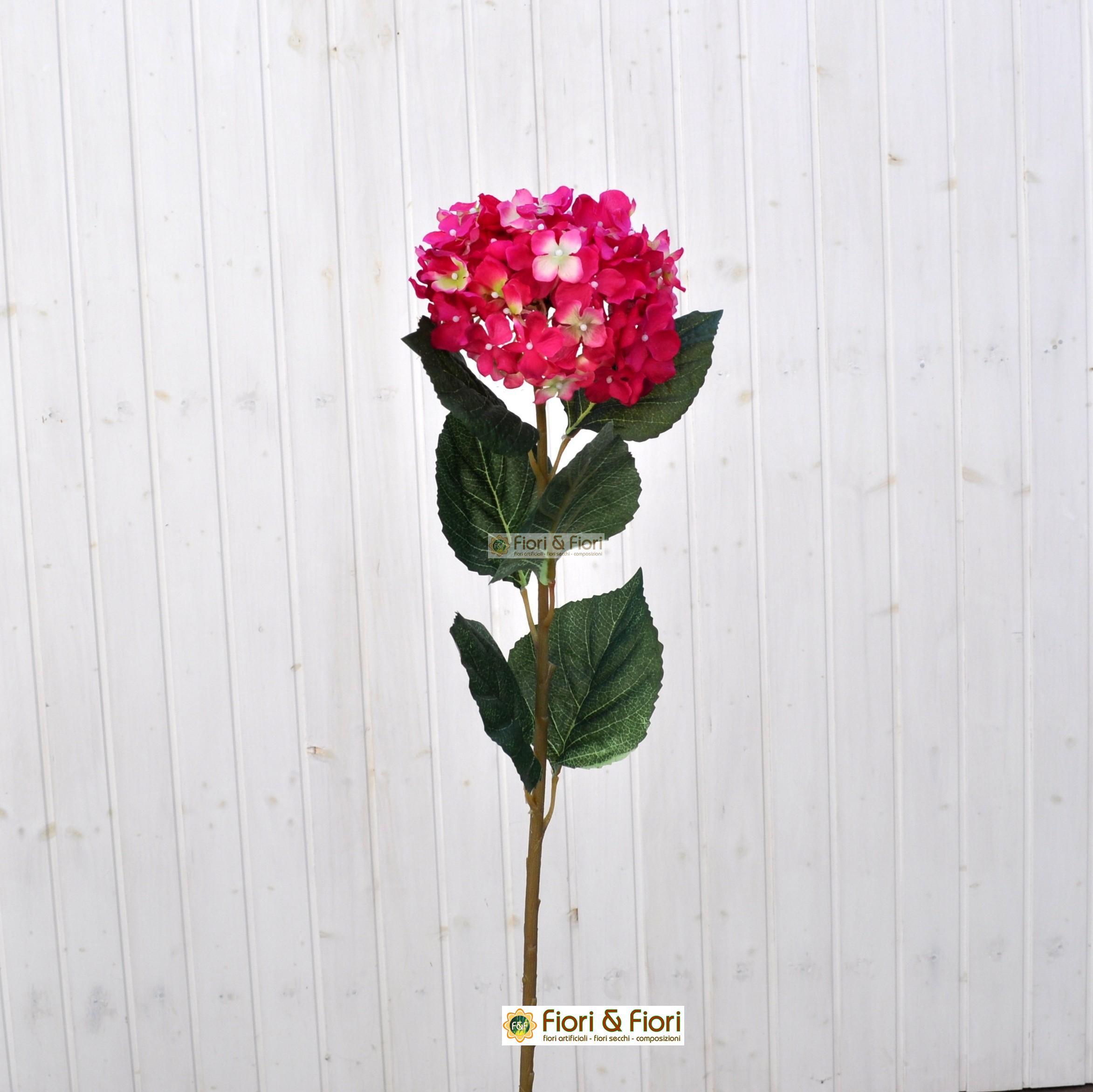 Fiore artificiale ortensia alice fucsia per bouquet e for Colore ortensia