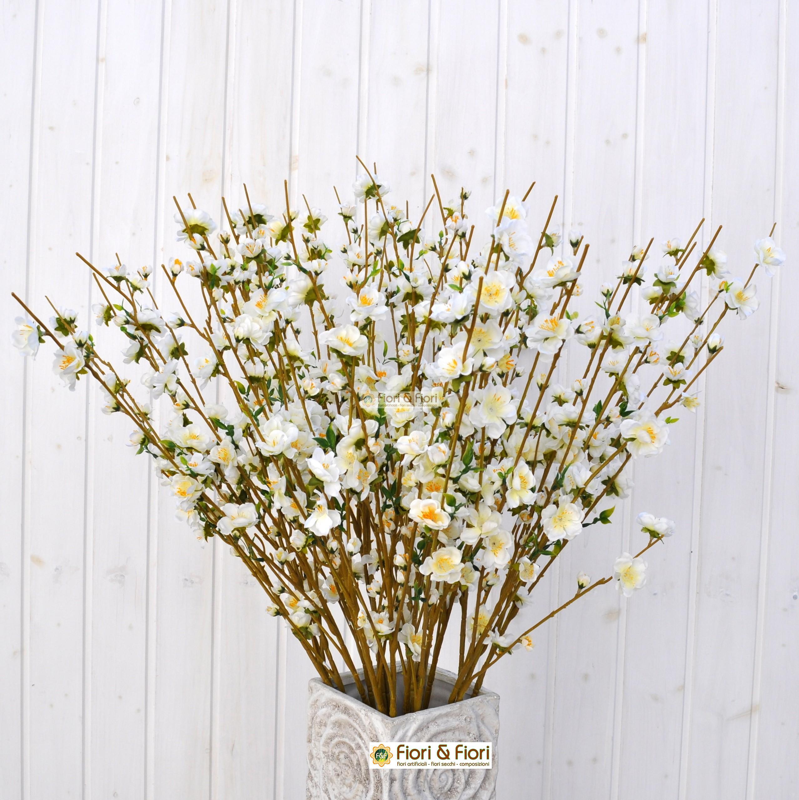 Rami Di Pesco Finti fiore di pesco bianco