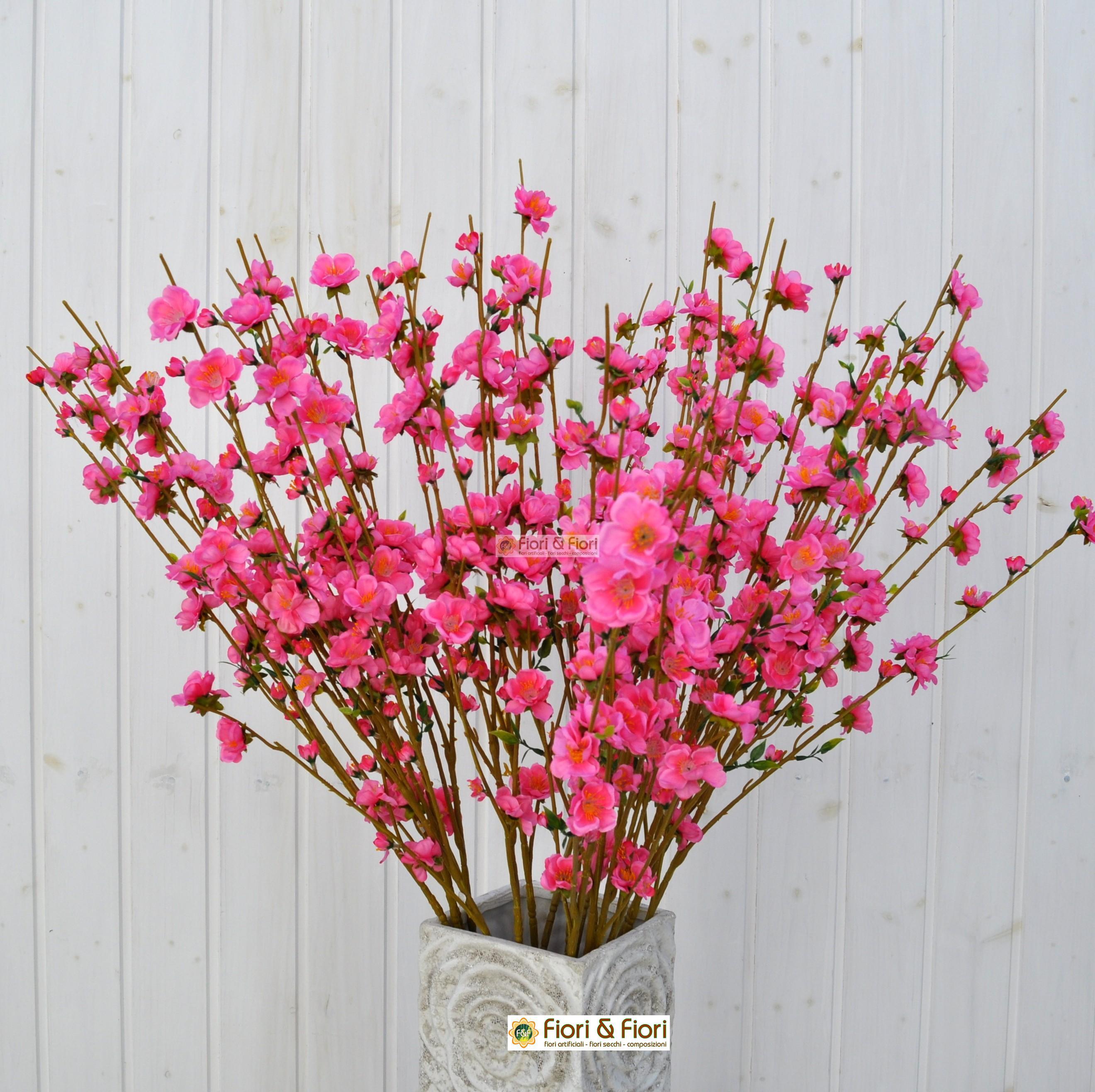 Rami Di Pesco Finti fiore di pesco fucsia