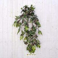 Pianta artificiale Tradescantia verde medium