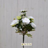 Bouquet fiori artificiali rosa canina bianco