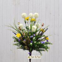 Bouquet fiori artificiali Tirolo bianco