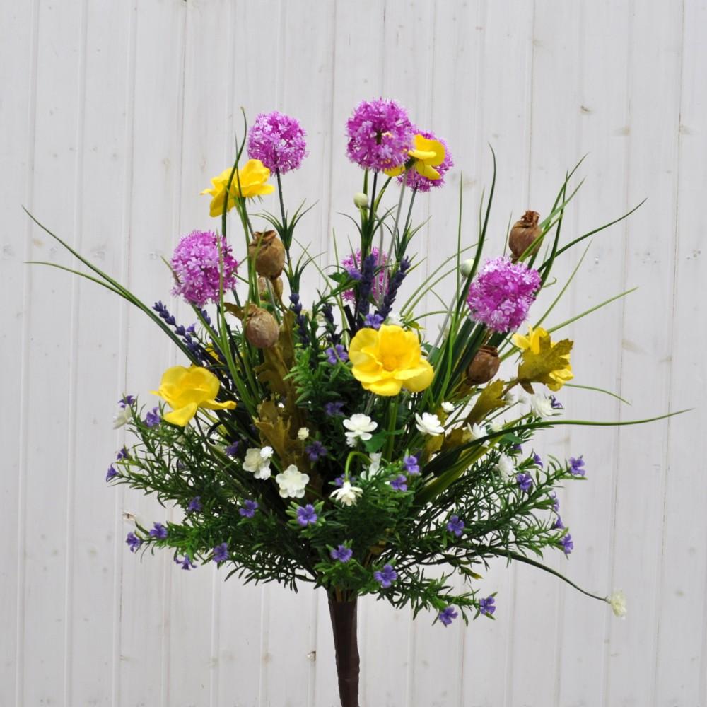 Bouquet fiori artificiali tirolo fucsia per arredamenti for Fiori artificiali